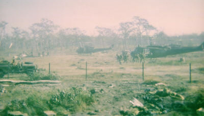 arrival W3 Coy FSPB PICTON 1 Dec 69 taken from W3 mortar section baseplate location[Young]