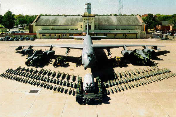 B-52 variant with a more modern demonstration of the payload possible [internet]
