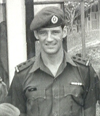 Capt Bill Blair, 1971 post Vietnam wearing black rank & lanyard [click for article 'Seen in Black']