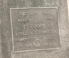 existing Cooper headstone with errors