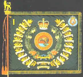REgimental Colour 1RNZIR from period W3 Coy deployed [NZDF]